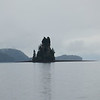 Most famous point of interest around Ketchikan - lonely rock in the middle of nowhere