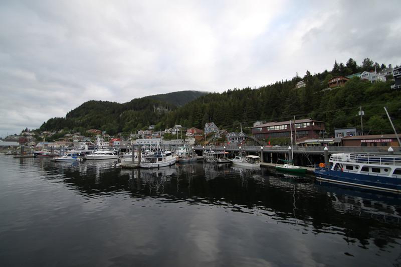 """Salmon Capitol of the world"" - Ketchikan marina from the sea"