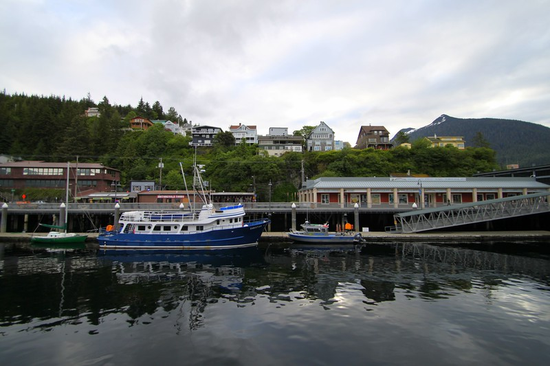 """Christian"" - a catamaran that takes tourists to the Misty Fiords at the pier in Ketchikan, AK"