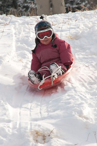 Sledding at Meyer Ranch Park 2