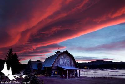 Evergreen Memorial Sunset