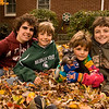 November 1, 2009<br /> <br /> Moving Right Along...Halloween was here and gone and it is time to start thinking about  pictures to use with our Christmas cards...The Grandboys were over yesterday to help Grandpa and me with all the leaves in the backyard.  It was jumping time and I was able to settle them down for a few quick pictures with Libby.  This was my favorite of the bunch and top on my list for the Christmas card---so far.