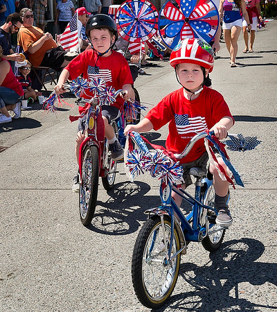 Riding in 4th of July Parade