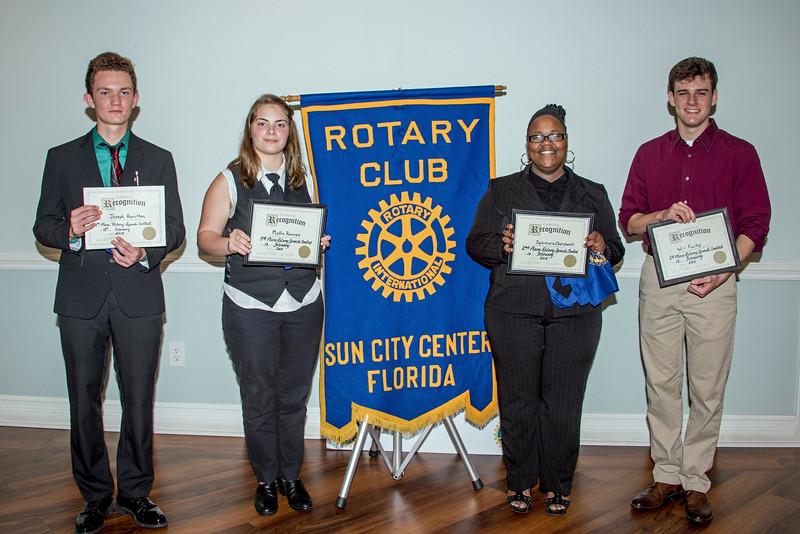 Sun City Center Rotary Club  Speech Contest  - 2/13/2018 - Chuck Carroll