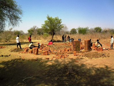the women's guest house under construction. We can't wait to visit!