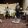 A baby yoga class takes place during the North Central Massachusetts Community Baby Shower hosted by MOC's Women, Infants and Children program and the Gardner Visiting Nurses Association Healthy Families at the Leominster Elks on Wednesday, April 26, 2017. SENTINEL & ENTERPRISE / Ashley Green