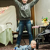 Ethan Turk takes part in a baby yoga class with mom Katelyn during the North Central Massachusetts Community Baby Shower hosted by MOC's Women, Infants and Children program and the Gardner Visiting Nurses Association Healthy Families at the Leominster Elks on Wednesday, April 26, 2017. SENTINEL & ENTERPRISE / Ashley Green