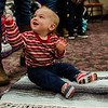 Teddy Dorsey takes part in a baby yoga class with mom Megan Clawson during the North Central Massachusetts Community Baby Shower hosted by MOC's Women, Infants and Children program and the Gardner Visiting Nurses Association Healthy Families at the Leominster Elks on Wednesday, April 26, 2017. SENTINEL & ENTERPRISE / Ashley Green