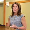 Lt. Governor Karyn Polito addresses the crowd at the signing of the Community Compact with Lunenburg at the Library on Thursday afternoon, May 4, 2017. SENTINEL & ENTERPRISE/JOHN LOVE