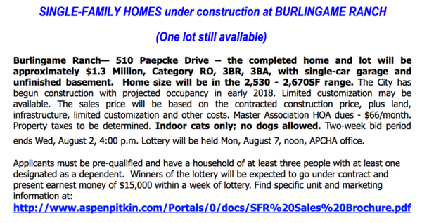2017-07-26  Burlingame Ranch lottery announcement