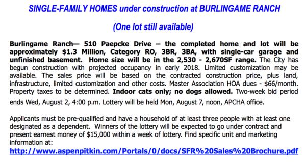 2017-07-26  Burlingame Ranch lottery announcement