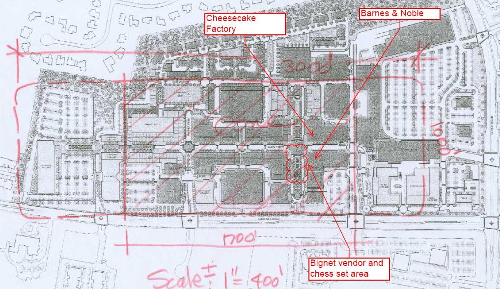 2006 08 25 - Crocker Park site plan with dimensions