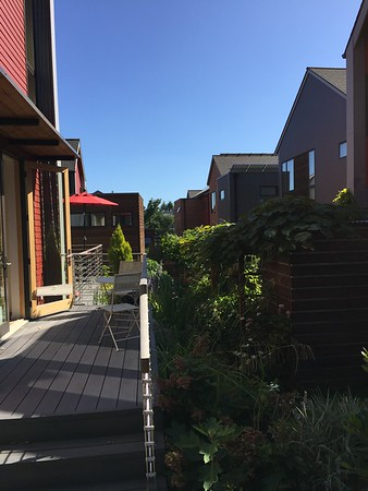 2016-08-05  Grow Neighborhood (Phase I) on Bainbridge Island Looking Between Rear of Houses
