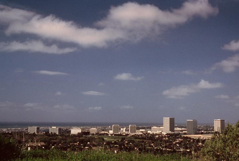 1980-XX-XX - TIC - Newport Center with Pacific Ocean in Background