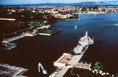 198X-XX-XX - TIC - Aerial over North Lake in Woodbridge, Irvine, CA, USA