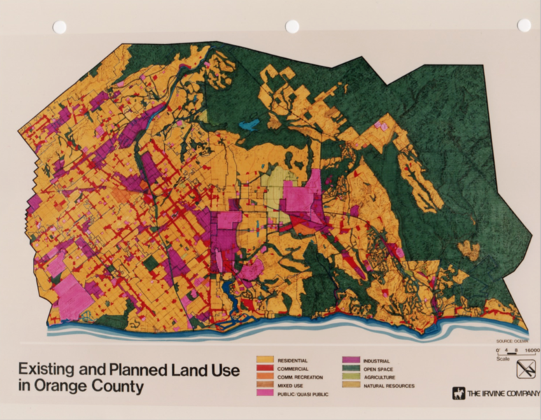 1984-XX-XX - TIC - Existing and Planned Land Use in Orange County, CA