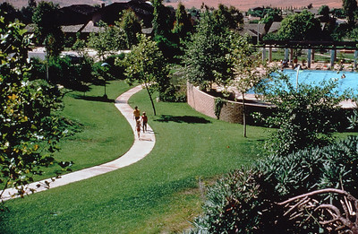198X-XX-XX - TIC - A greenway and swimming pool in University Park, Irvine, CA, USA