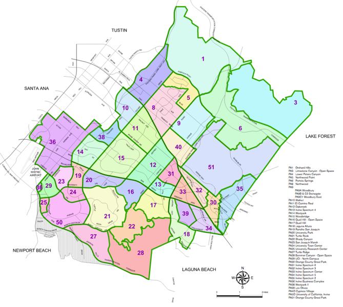 2016-09-20 - TIC - City of Irvine Planning Areas