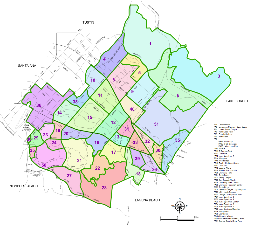 2016-09-20 - TIC - City of Irvine Planning Areas