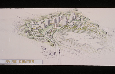 197X-XX-XX - TIC - Bird's eye view rendering of concept for Irvine Center