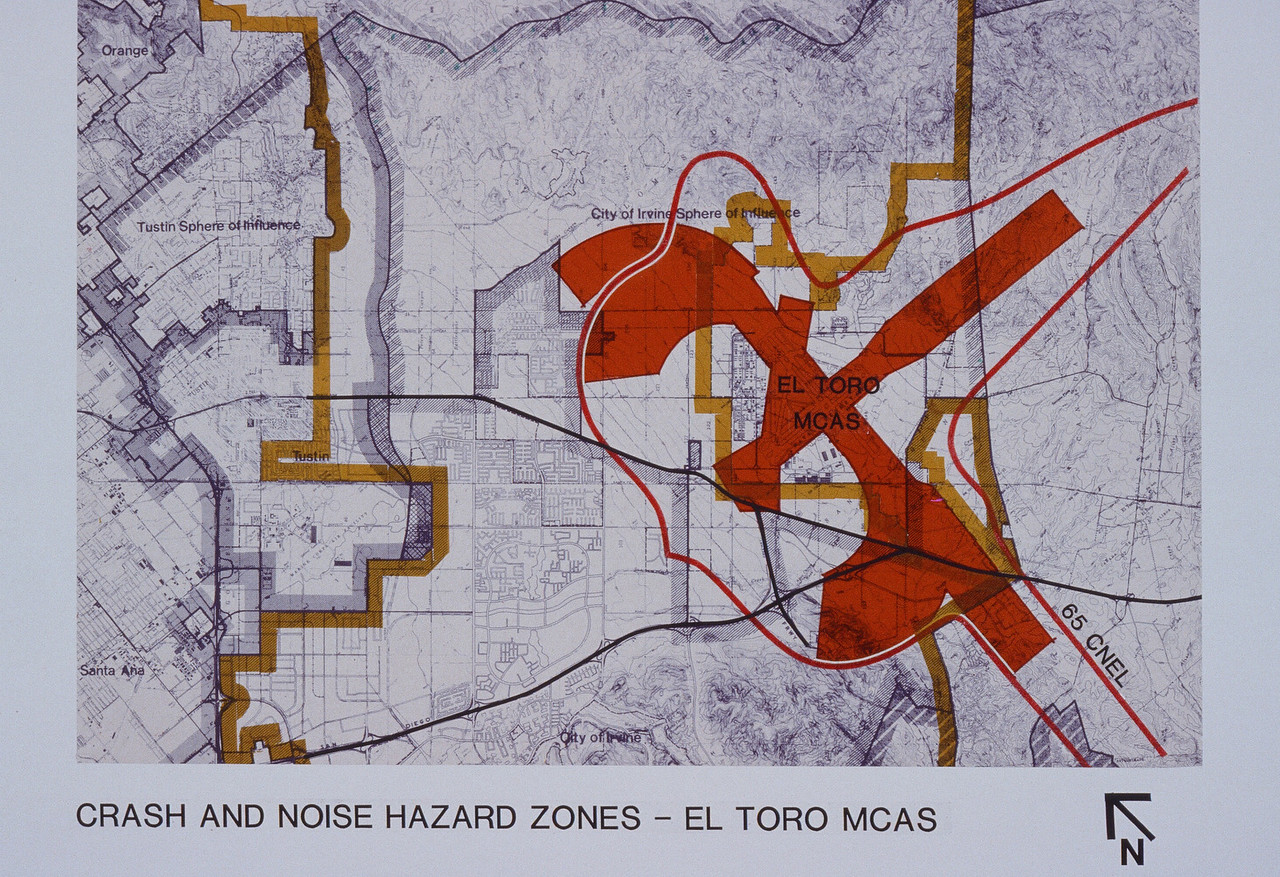 1981-XX-XX - TIC - MCAS El Toro - Crash and Noise Hazard Zones