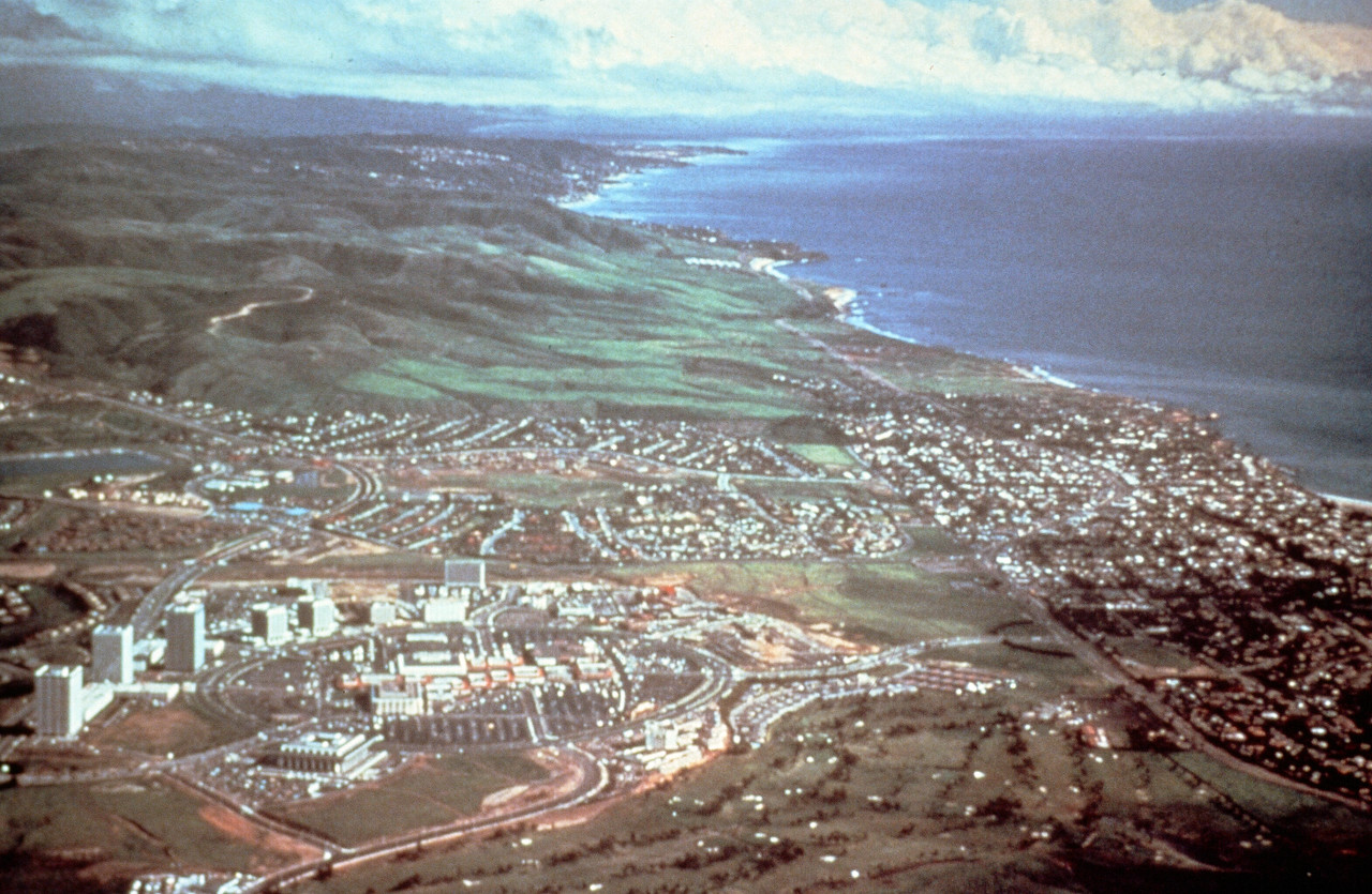 1978-XX-XX - TIC - Aerial of Newport Center with Irvine Coast in Background
