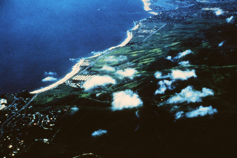 198X-XX-XX - TIC - Aerial view of Irvine Coast from above Laguna Beach