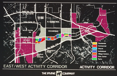 198X-XX-XX - TIC - East-West Activity Corridor (Colored land uses)