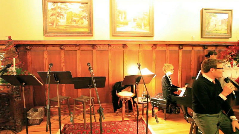 Christmas Songs in the Great Room of Prescott Hall, 2010.  (Part 3)