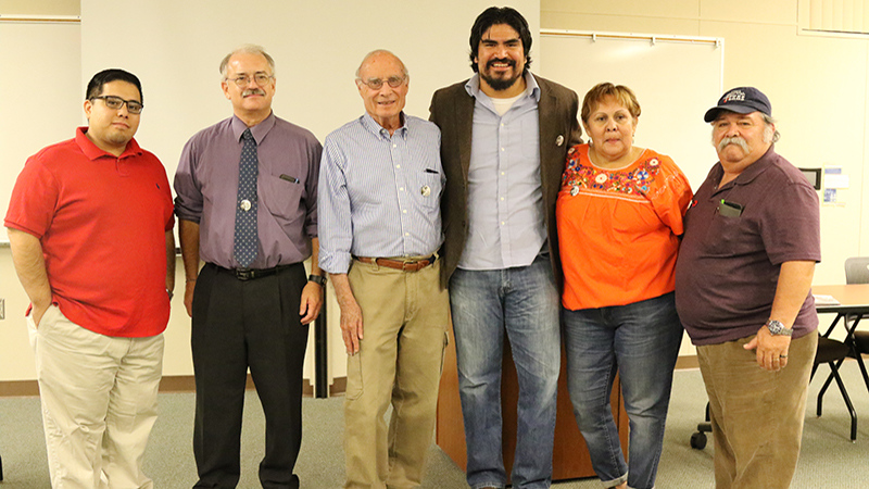 From left to right: Gustavo Aguirre Jr., John Giertz, Jack Hernandez, Oliver Rosales, Rosanna Esparza, Lupe Martinez