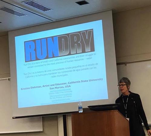 CSU San Marcos professor media professor Kristine Diekman talks about the RunDry project.
