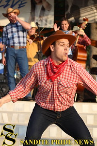 "Sand Springs Community Theater performs ""Oklahoma!"" at the Case Community Park Great Lawn."