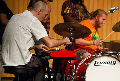 Commercial Music professor Josh Ottum plays the organ during the jam session with Doug Wimbish.