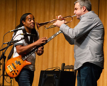 Doug Wimbish and Kris Tiner perform in the Indoor Theater.