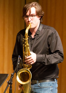 Kevin Starr plays saxophone during the jam session with Doug Wimbish.
