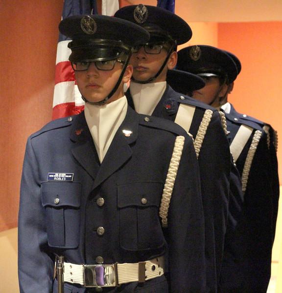 Color Guard for Tehachapi Composite Squadron 46
