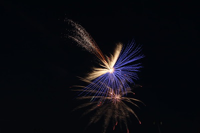 Fireworks at the 2018 Riverfest