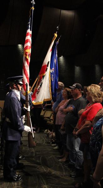 Color Guard for Tehachapi Composite Squadron 46 during National Anthem