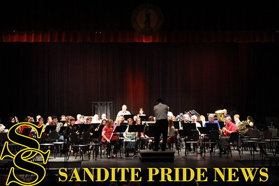 The Sand Springs Community Band performs at a 2017 Veteran's Day concert.
