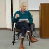 Author Gerald Haslam speaks in the Levan Center.