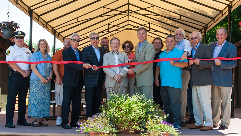 Glen Ridge Community Pool House Ribbon Cutting, 2015. File Photo: Scott Kennedy/Montclair Dispatch.
