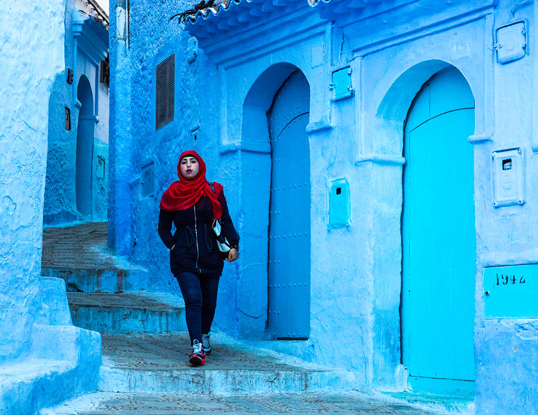 """""""The Blue City, Morocco""""       by Kent Wilson"""