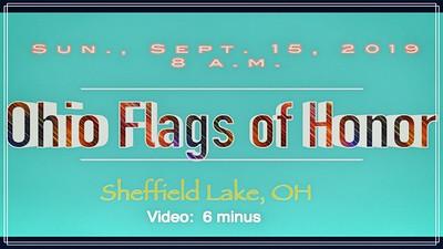 Ohio Flags of Honor-Sun., Sept. 15, 2019, Sheffield Lake, OH