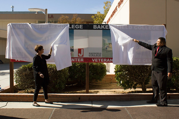 Unveiling of the Veterans Resource Center plans