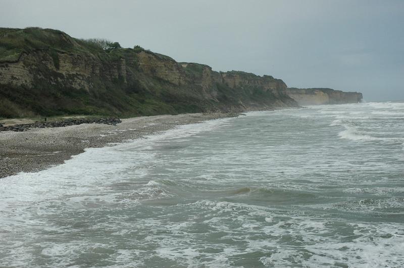 "Omaha Beach - <a style=""font-size: 14px;"" href=""http://snoupi.smugmug.com/gallery/3395287"" target=""_blank"">Pointe-du-Hoc</a> Cliffs, as seen from Omaha Beach"