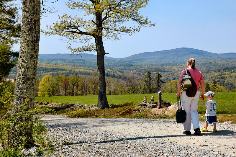 Jake and Gramama Enjoying the Scenery