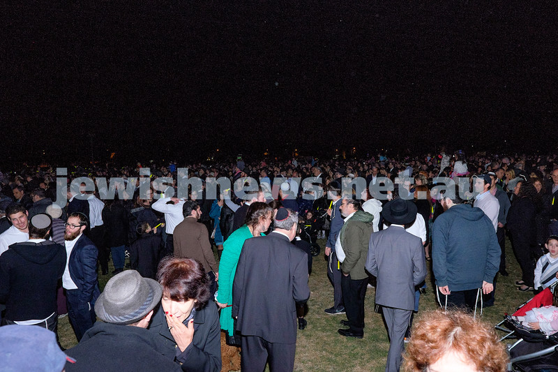 October 25, 2014 - communal Havdalah celebrations at Caulfield Park, Melbourne.