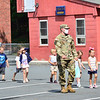 KRISTOPHER RADDER — BRATTLEBORO REFORMER<br /> The Army Reserve unit from Keene, N.H., visited children participating at the summer camp at St. Michael's Catholic School, in Brattleboro, Vt., during Community Heroes Week on Tuesday, June 30, 2020.