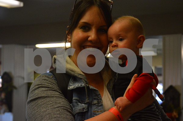 Carrie Traver poses with her son Madden.