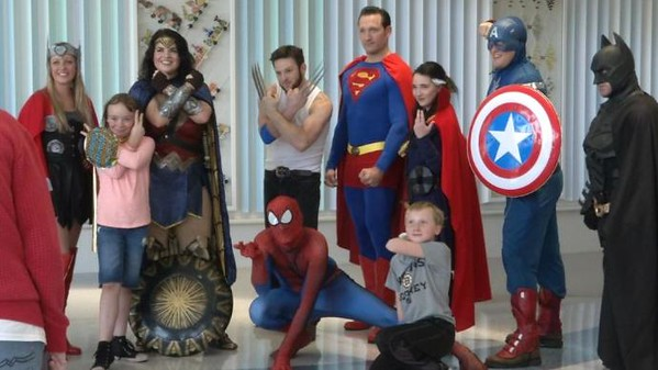 "IOWA CITY, Iowa (KCRG-TV9) -- Kids got to meet their favorite superheroes at Stead Family Children's Hospital today.   For the kids and their families, seeing their superheroes was a welcome distraction from their stay at the hospital. Superman, Batman, Wonder Woman and many more superheroes saved the day for these kids at the hospital.  They took pictures and the kids got to decorate their very own capes. The superheroes showed the kids how to be brave when they donated blood. One mother said hosting these events means the world to the kids.  ""So the kids don't think that they're forgotten about. They enjoy it. They're stuck in a hospital and don't get to see the outside world,"" said Lindsy Meyer of Farley. Meyer's son is a patient at the University of Iowa Hospitals and Clinics.  The superheroes enjoyed every moment of it and the kids got to pretend they were flying to the rescue.  ""It's pretty cool. It keeps their mind away from what's next or what's tomorrow,"" said Meyer.  Lifting spirits and saving lives."
